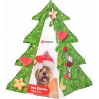Kerstboom met koekjes voor honden Flamingo