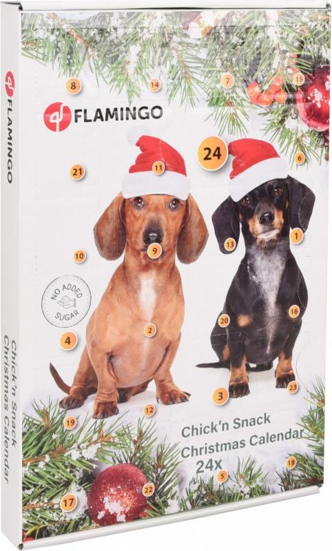 Calendrier de l'avent pour chien Noël Flamingo