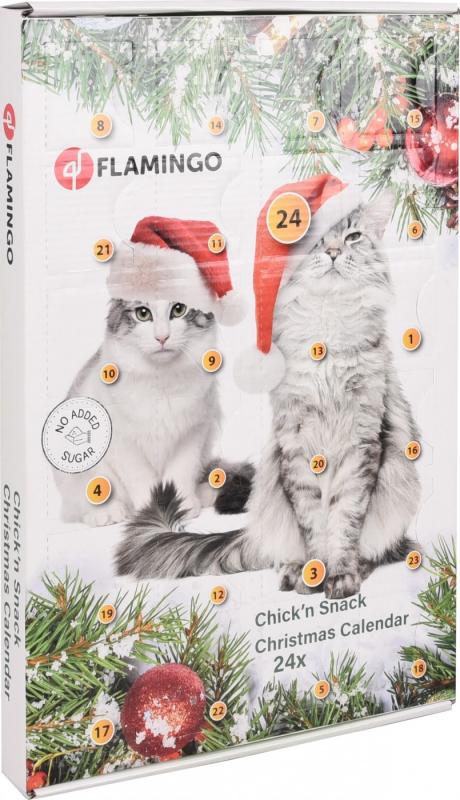 Calendrier de l'avent pour chat pour Noël Flamingo