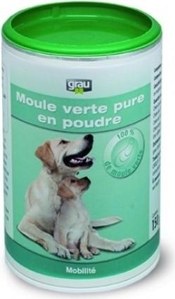 GRAU Zuiver groen mosselpoeder, tegen artrose bij honden en katten
