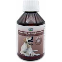 GRAU Huile de nigelle pure, répulsif contre tiques et puces pour chien