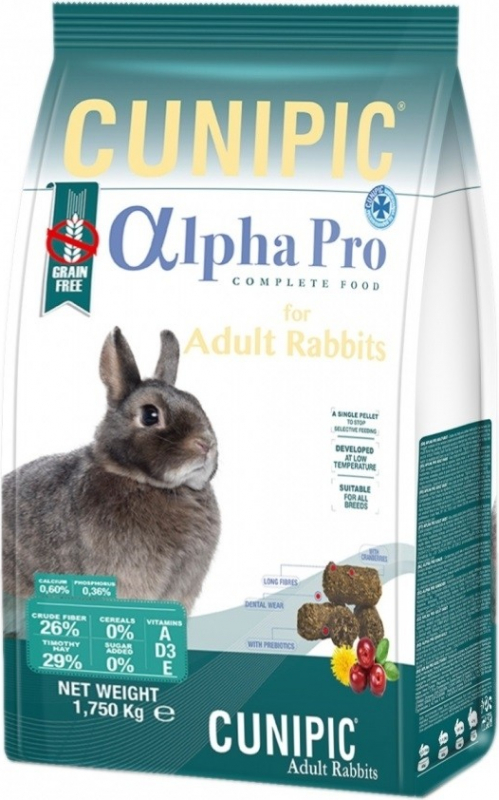 Cunipic Alpha Pro Lapin Adulte Aliment complet pour lapins adultes