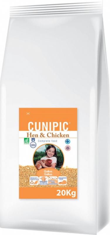 Cunipic Hen & Chicken Bio Aliment complet pour Poule & Poulet