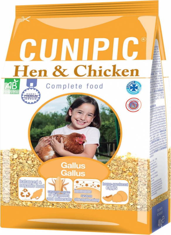 Cunipic Hen & Chicken Bio Alimento completo para Gallinas & Pollos