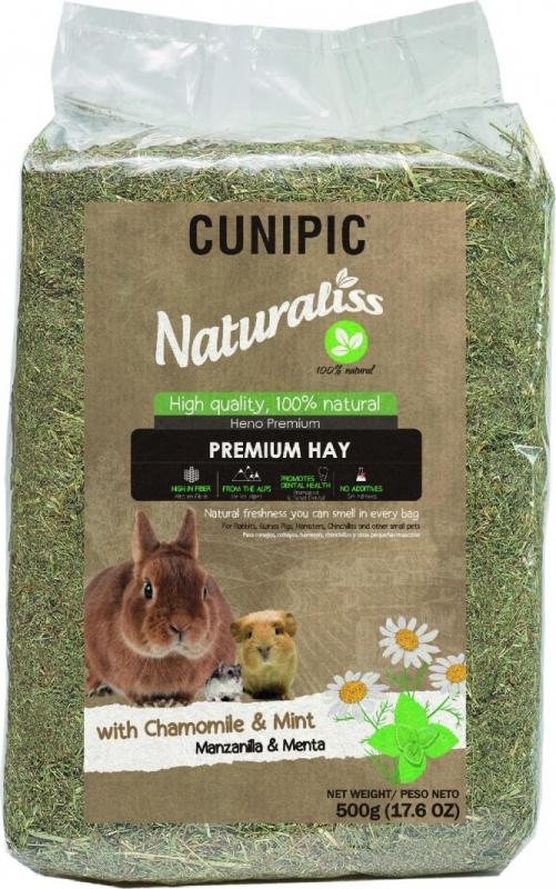 Cunipic Naturaliss Premium Hay Foin avec camomille & menthe pour rongeurs et lapins