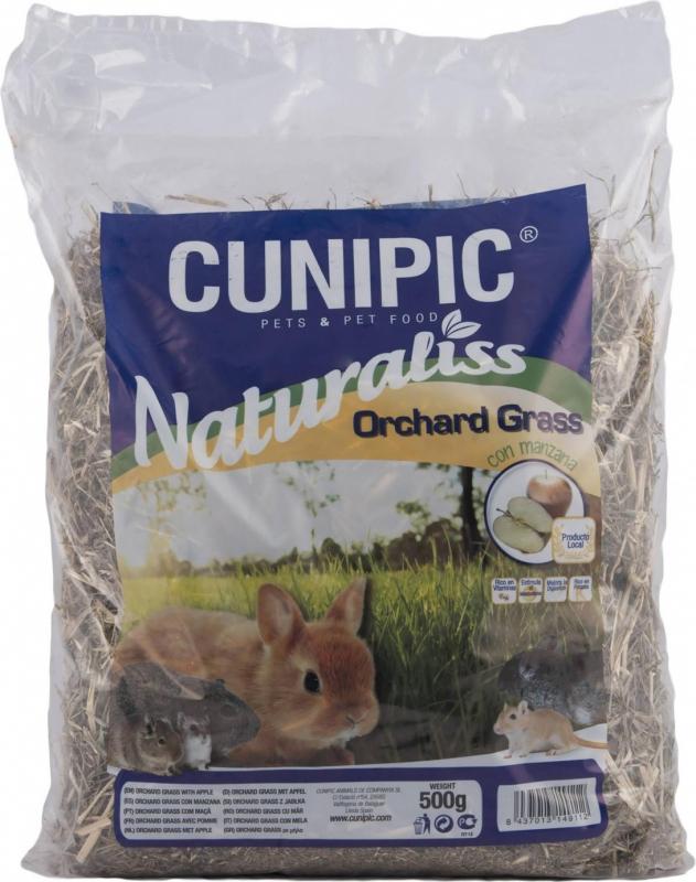 Cunipic Naturaliss Orchard grass Foin à la pomme pour rongeurs et lapins