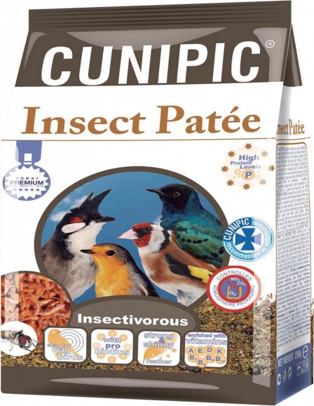 Cunipic Premium Paté de reprodução fortificante com insectos para aves