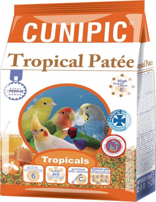 Cunipic Premium Tropical Pâtée fortifiante pour oiseaux tropicaux