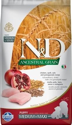 N&D Ancestral Grain poulet & grenade - Chiot - Medium & Maxi