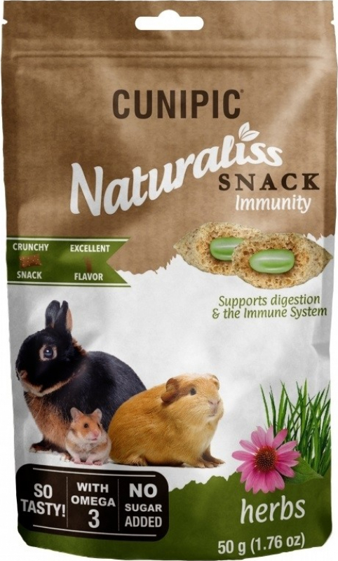 Cunipic Naturaliss Snack Immunity friandises pour lapins
