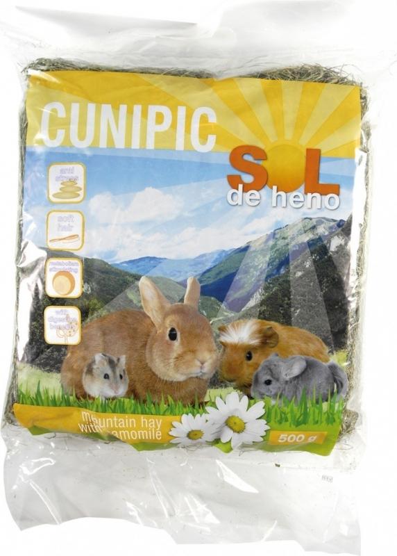 Cunipic Sol de heno Foin à la Camomille pour rongeurs et lapins