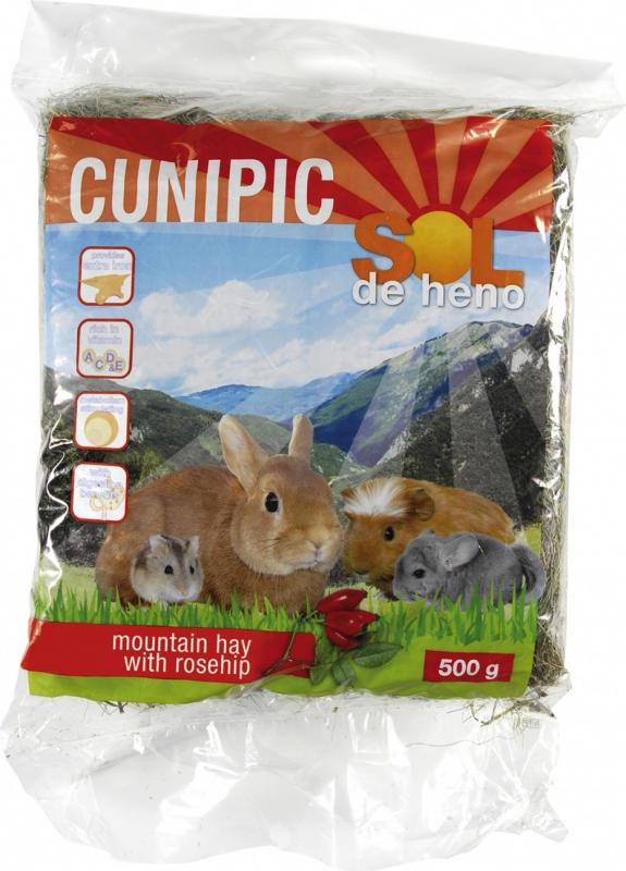Cunipic Sol de heno Foin à l'Églantier pour rongeurs et lapins