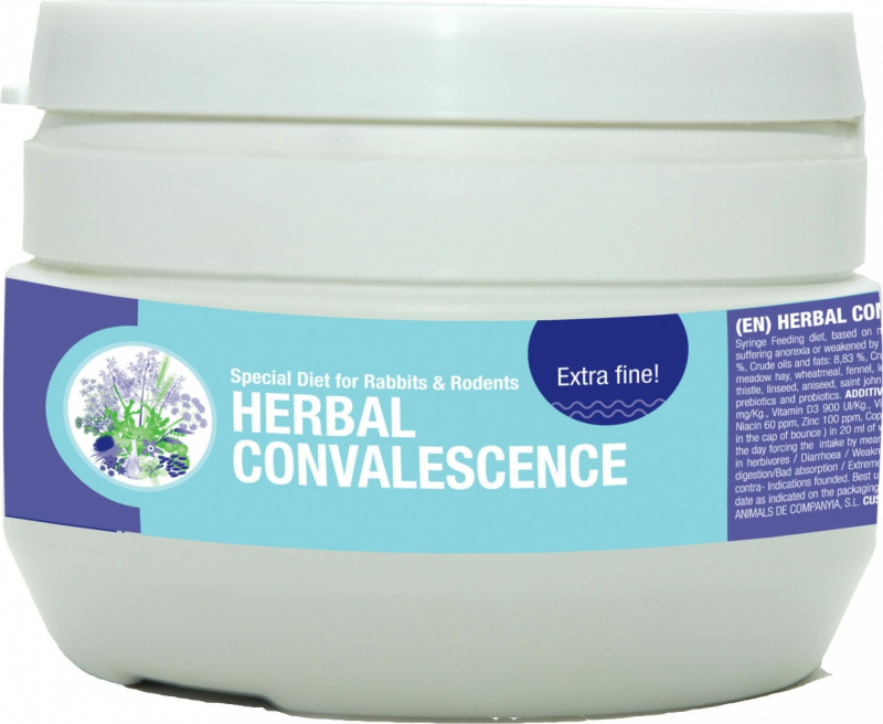 Cunipic Vetline Herbal Convalescence Nahrungsergänzungsmittel für Kaninchen und Nagetiere