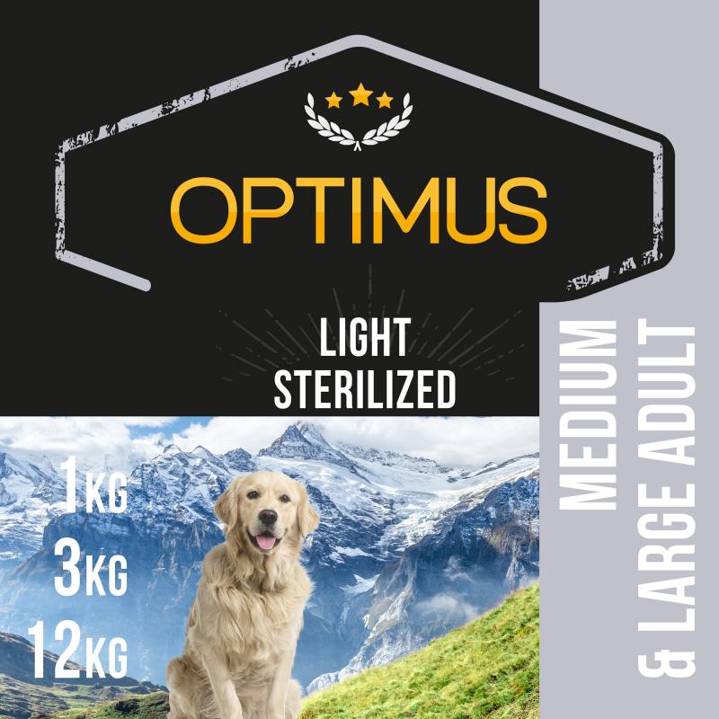 Optimus Adult Light / Sterilised pour Chien