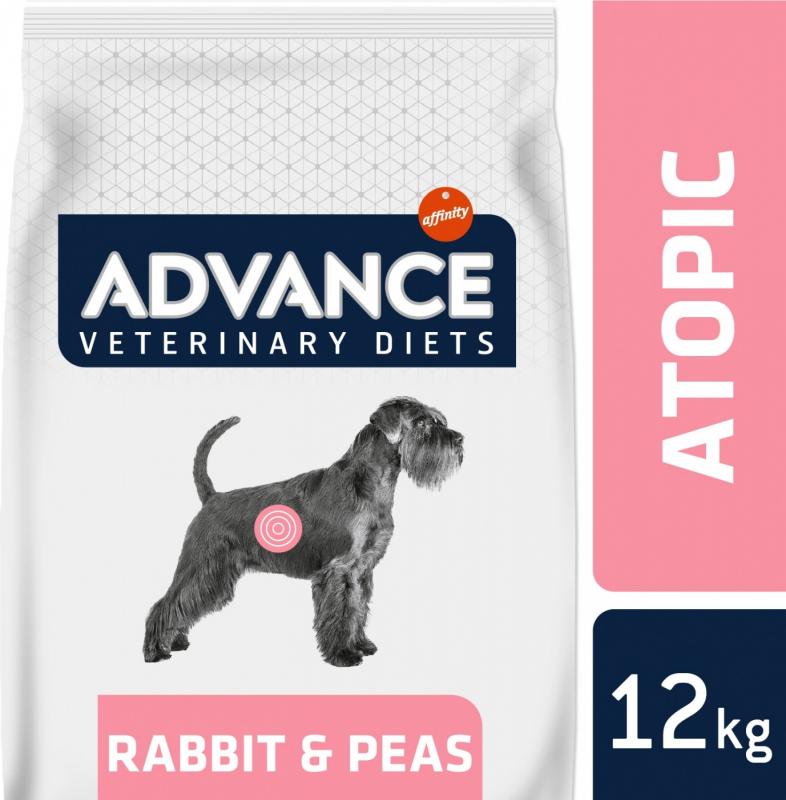 Advance Veterinary Diet Atopic lapin et petits pois pour chien