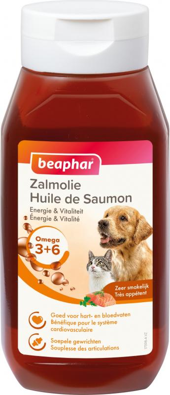 Huile de saumon BEAPHAR complément alimentaire pour chien et chat - 430 ml