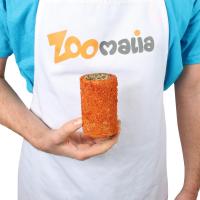 Karottenrolle gefüllt mit Getreide und Löwenzahn für Nagetiere Iako