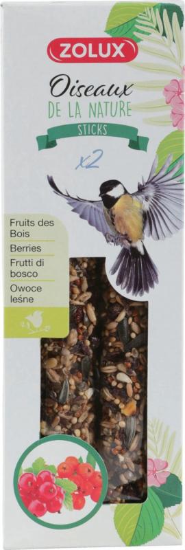 Zolux 2 Sticks pour oiseaux de la nature - Plusieurs saveurs