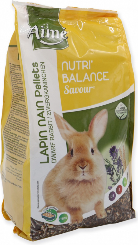 Aimé Nutri'Balance savour pellets Lapin Nain