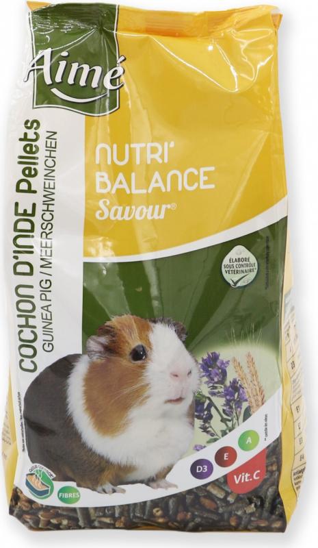 Aimé Nutri'Balance Savour Pellets Nourriture pour Cochon d'Inde