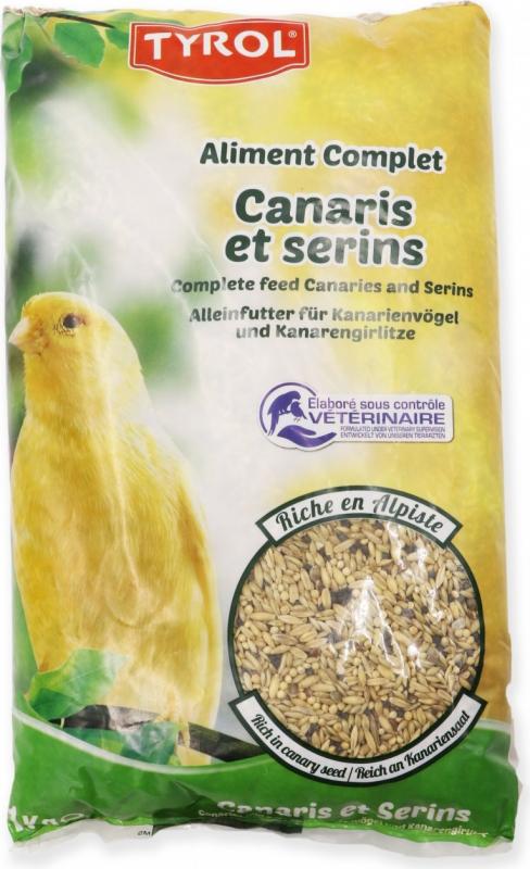 TYROL Nourriture Complète pour Canaris et Serins, Mélange de graines Riche en Alpiste 1 KG
