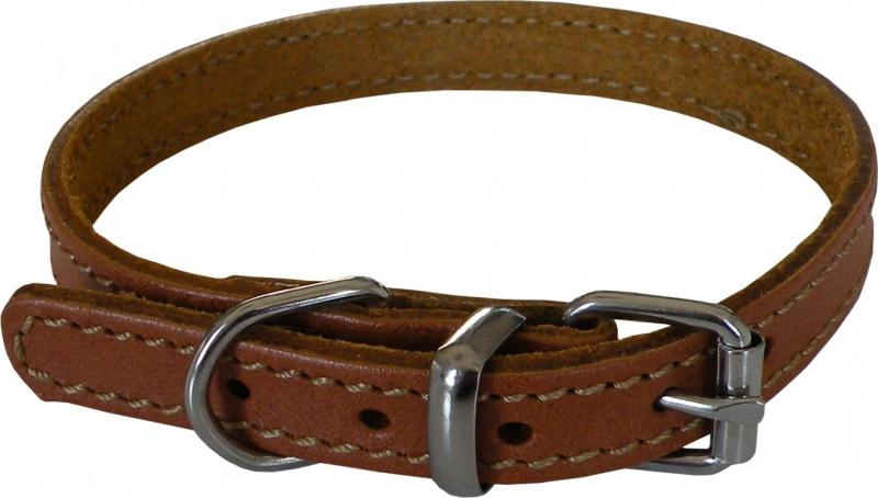 Collier en cuir Yago marron pour chien