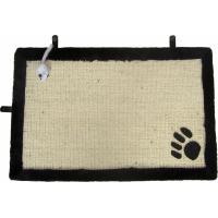 Tapis griffoir avec jouet suspendu pour chat