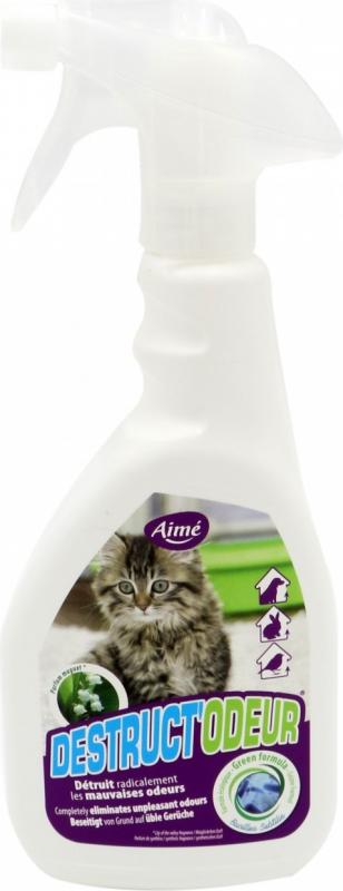 Spray anti-odeurs litière parfum muguet pour chat ou rongeur