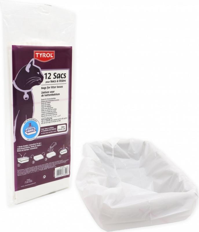 Sacs à litière / maison de toilette avec lien de fermeture pour Chat