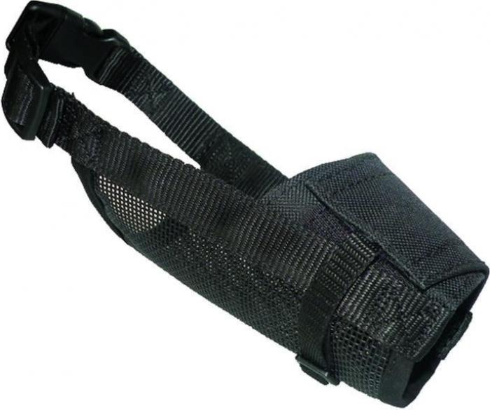 Muselière Yago en nylon noir pour chien moyen