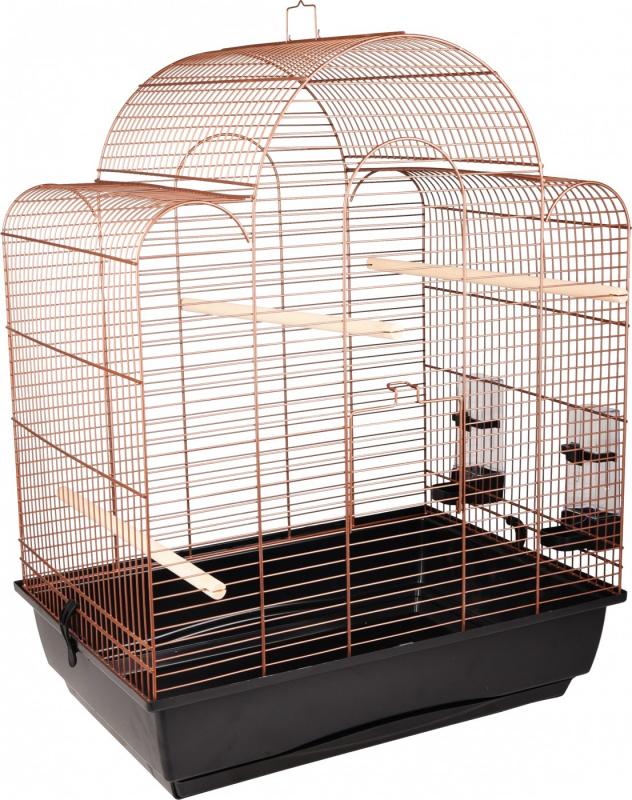 Flamingo Cage retro Tovah cuivre pour oiseaux exotiques - H70 cm