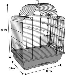 Flamingo Cage Tovah cuivre pour oiseaux exotiques
