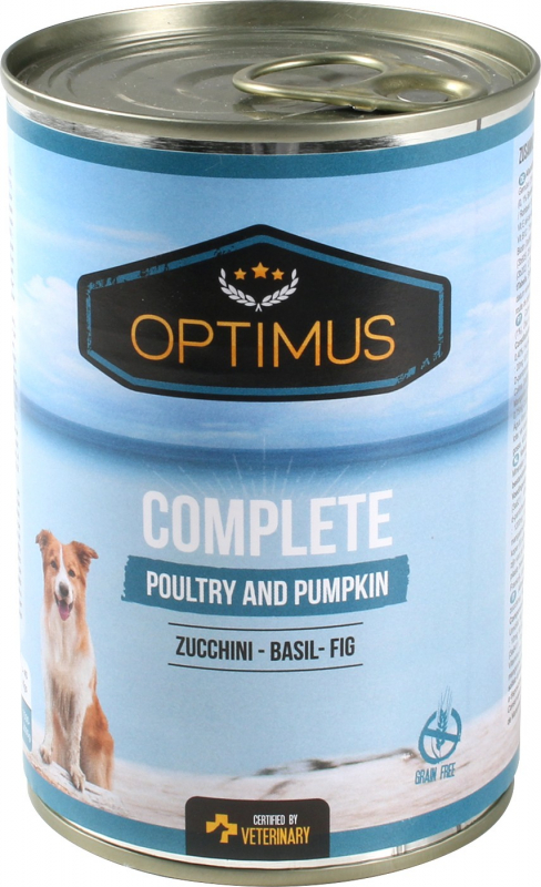 Pâtée Optimus Complete à la volaille et sans céréales pour chien