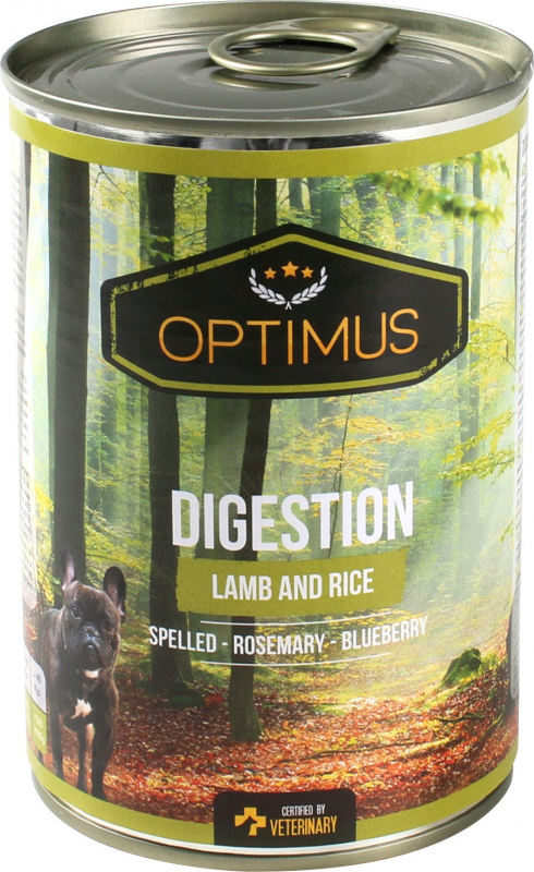 Pâtée Optimus Digestion, Agneau et riz pour chien