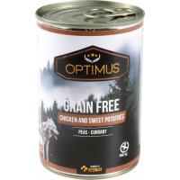 Pâtée Optimus Sans céréales, poulet et patates douces pour chien