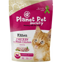 Pienso Planet Pet con carne fresca para gatito de pollo