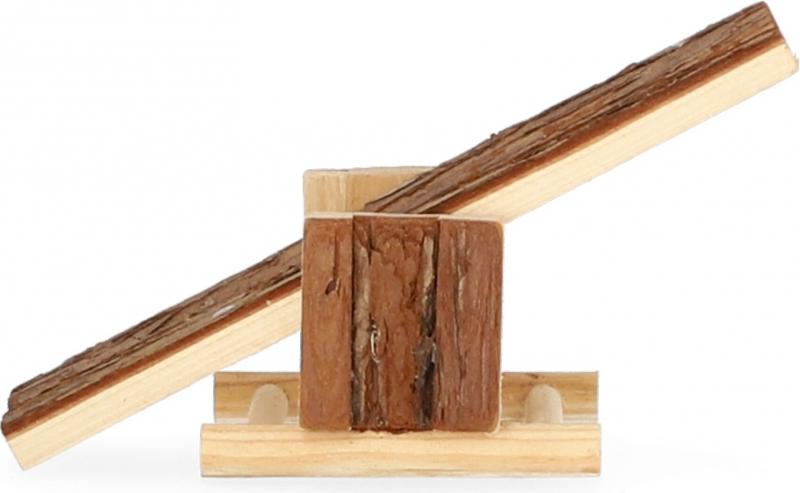 Bascule en bois pour rongeur Zolia