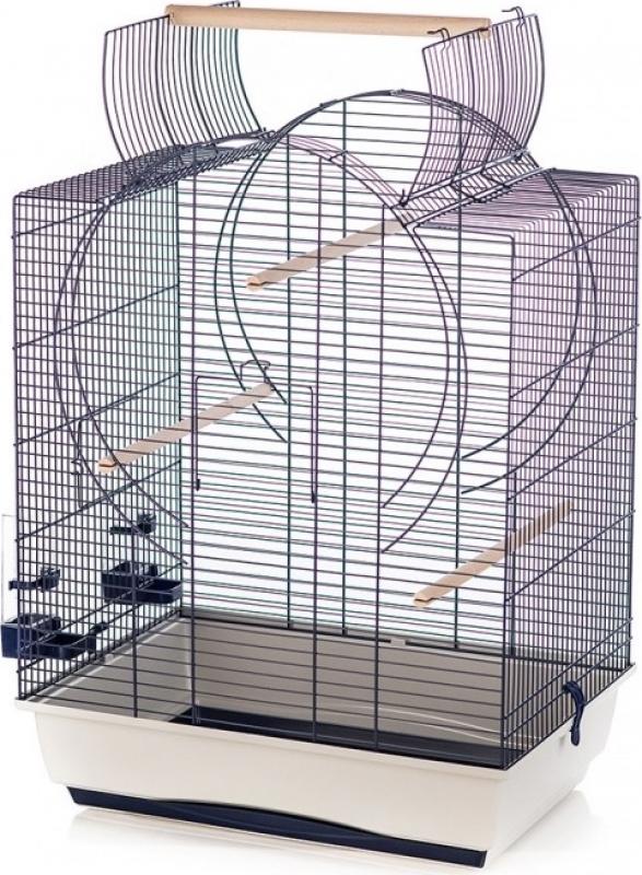 Duvo+ cage pour oiseaux Emma avec toit ouvrable - H72.5cm
