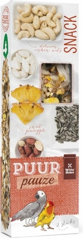 Witte Molen Purr bâtonnets de graines ananas et cacahuètes pour perroquets