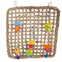 Duvo+ Filet d'escalade Zostère avec des jouets colorés