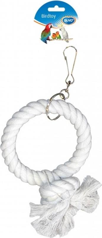 Duvo+ balançoire pour perroquet avec anneau en corde