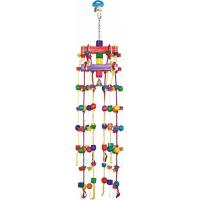 Duvo+ carrousel coloré en corde et blocs en bois