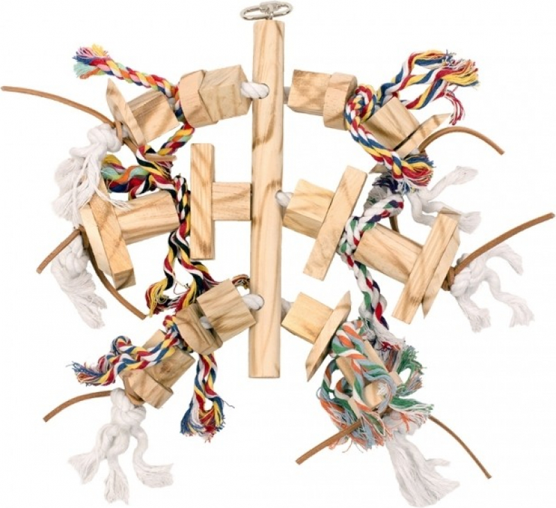 Duvo+ jeu suspendu en bois avec cuir et corde