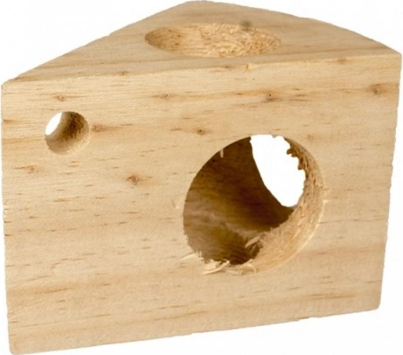 Duvo+ jouet pour rongeurs fromage en bois
