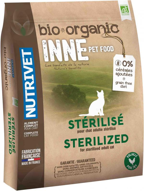 NUTRIVET Inne Bio Volaille pour chat stérilisé ou en surpoids