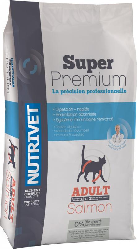 NUTRIVET Super Premium Saumon pour chat adulte