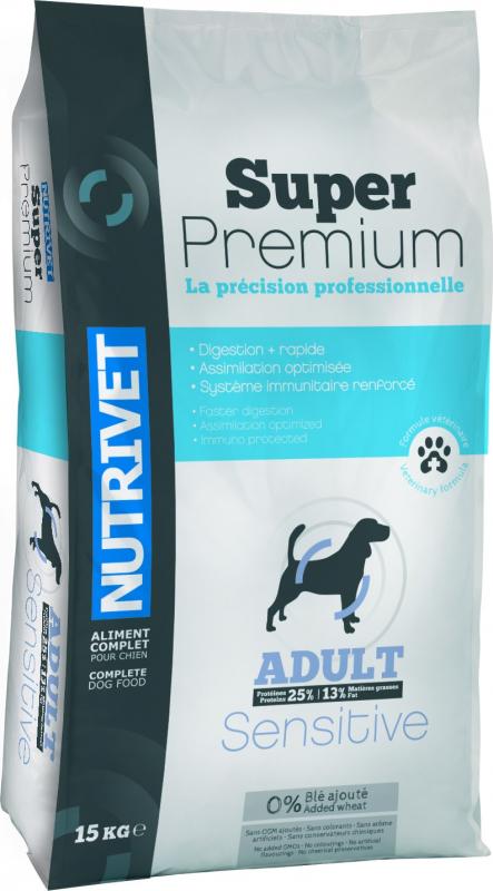 NUTRIVET Super Premium Sensitive Volaille pour chien adulte