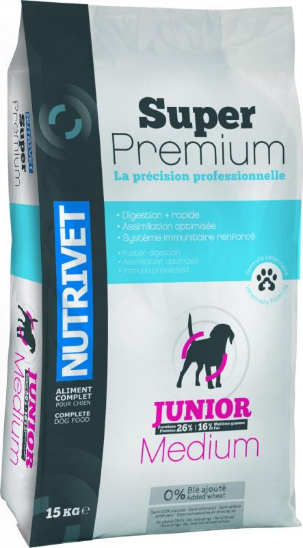 NUTRIVET Super Premium Volaille pour jeune chien de taille moyenne