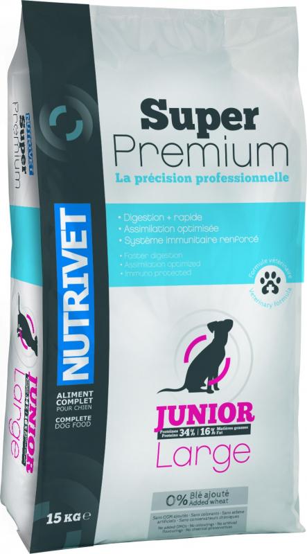 NUTRIVET Super Premium Volaille pour jeune chien de grande taille