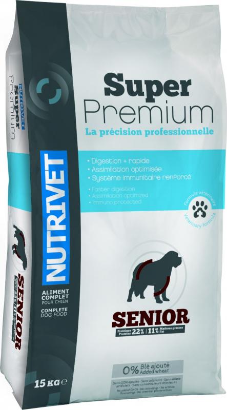 NUTRIVET Super Premium Volaille pour chien sénior
